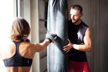 Ludo et Estelle en coaching Boxe chez WP33 à Bordeaux..