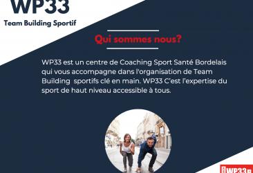 Nouveau ! Team Building sur mesure en collaboration avec les coachs sportifs de WP33