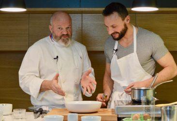 Etchebest cuisine avec Ludo son coach sportif depuis 11 ans dans son programme mentor
